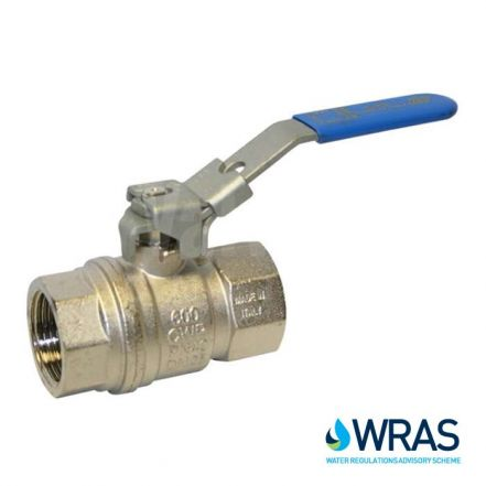 Brass Ball Valve with Blue Lockable Lever