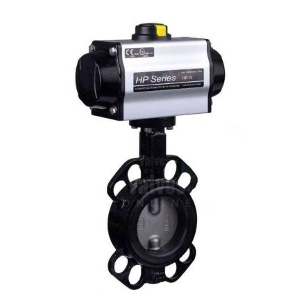 Pneumatic Actuated Economy Wafer Pattern Butterfly Valve