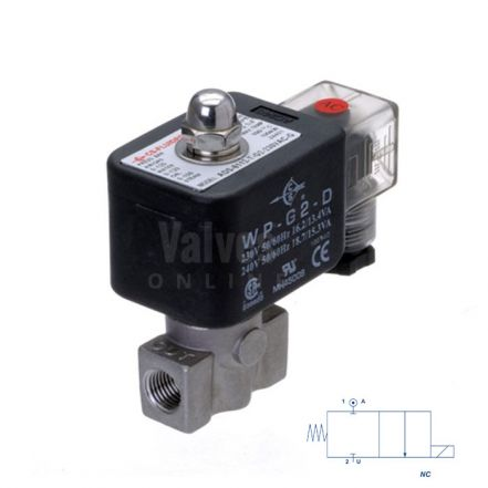 "Stainless Steel Solenoid Valve 0 Bar Rated Direct Acting 1/4"" to 1/2"""