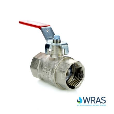 Brass Ball Valve WRAS Approved with Red Lever
