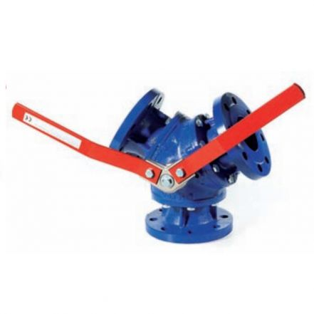 Cast Iron Ball Valve 3 Way Diverter Flanged PN16 Y Port