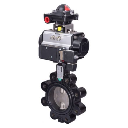 Pneumatic Actuated Butterfly Valve Lugged PN16