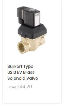 Burkert 6213 Brass Solenoid Valve