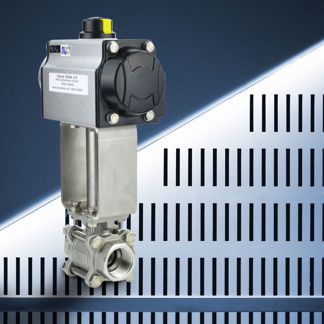 Actuated Stainless steel Ball Valve