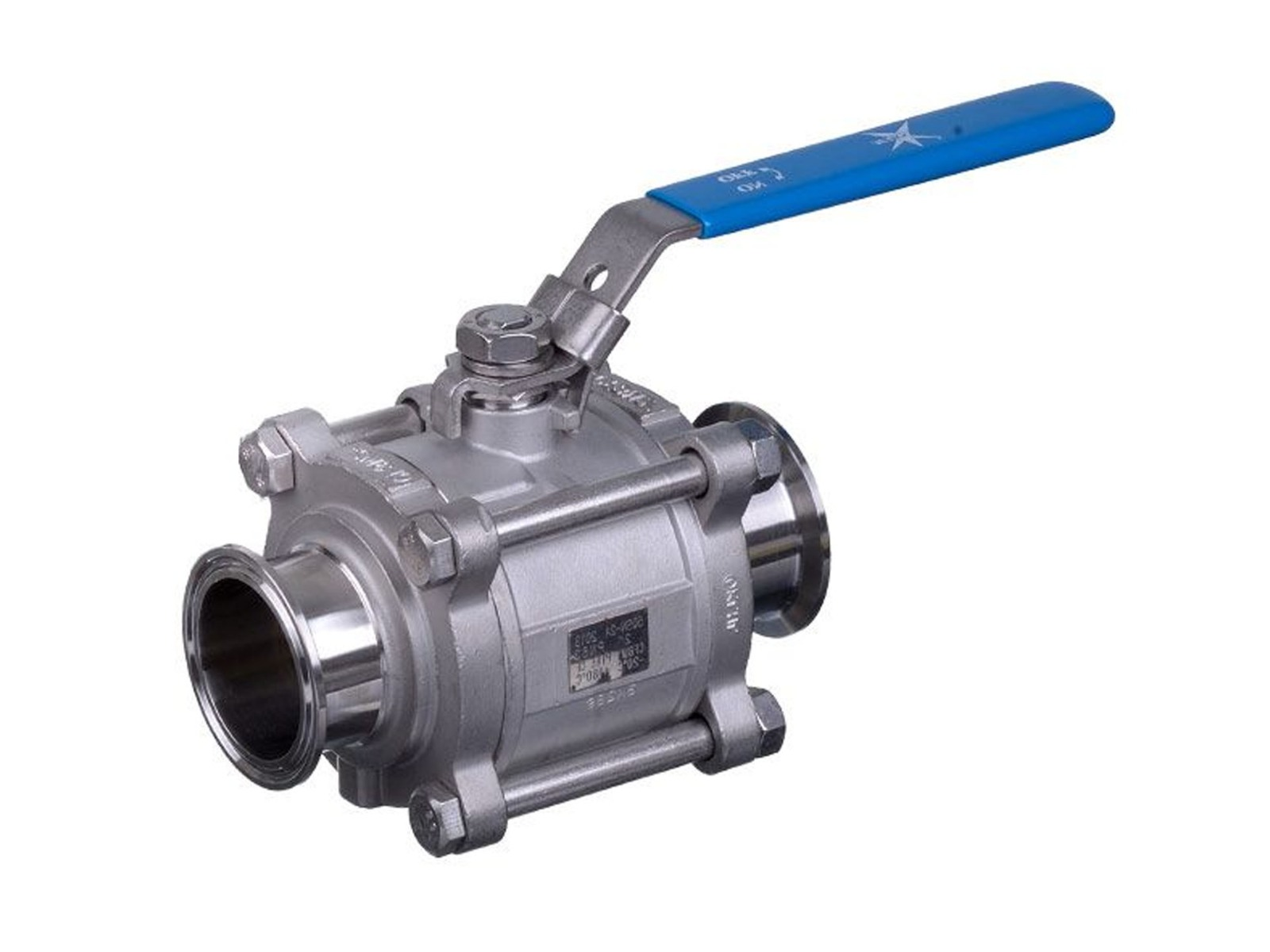- Mars Ball Valve Series 50SN 3 Piece Hygienic Manual Only Tri-Clamp