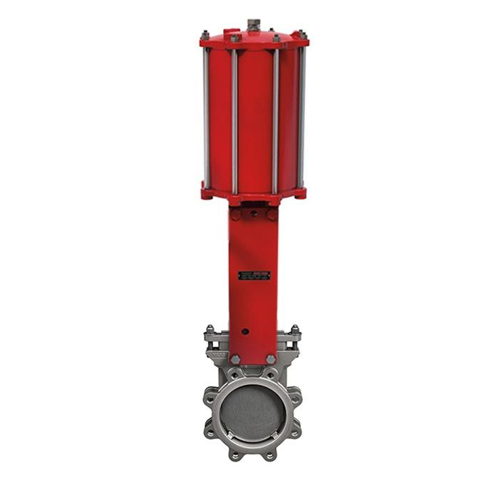 Pneumatic Operated Bray Lugged ANSI 150 Uni-Directional Knife Gate Valve