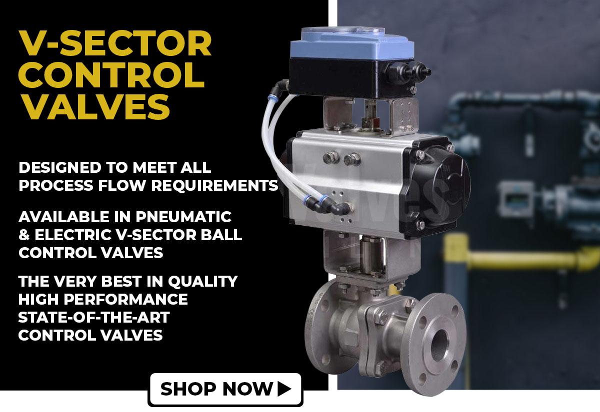 V-sector control valves